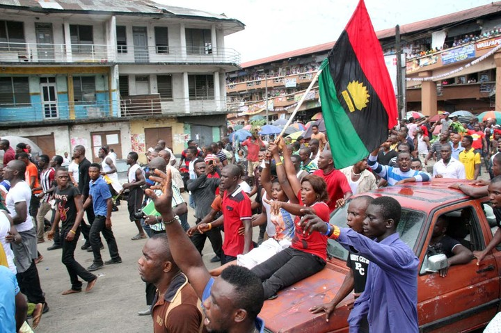 Nnamdi kanu supporters ground port harcourt with biafra flags pics 2 likes 1 share thecheapjerseys Image collections