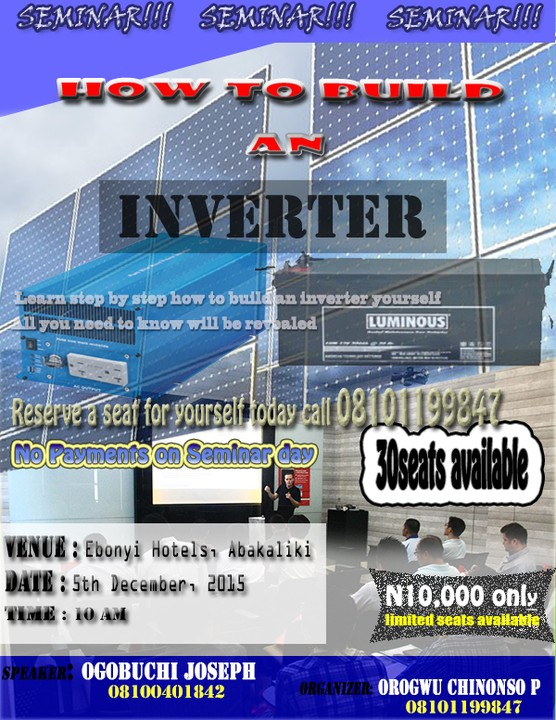 how to build an inverter from scratch