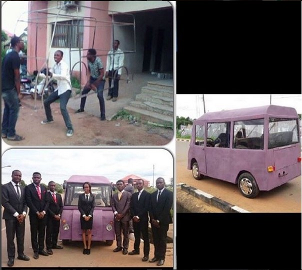 Mini-Bus Built By Engineering Students In Unizik....(Photos)