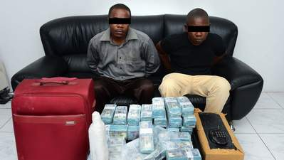 Two Nigerians Arrested In Fake Currency Scam In The UAE (Photo)