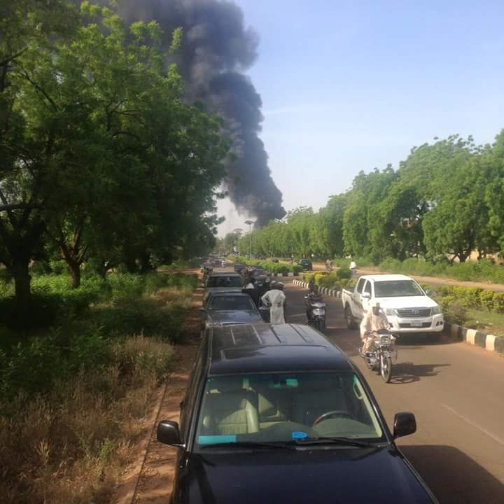 Fire At Filling Station Within The Sokoto State Government House (photos)