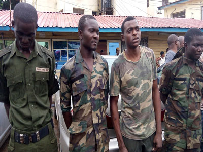 Four Fake Soldiers Held In Lagos (picture)