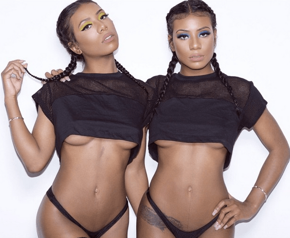Nude ebony the twins jolie