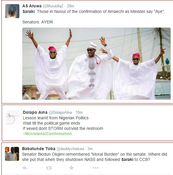 Nigerians React To Amaechi's Confirmation As Minister Online