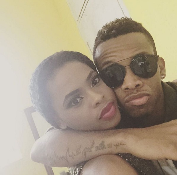 Chidinma Ekile Cozying Up with tekno miles  (Pictured)