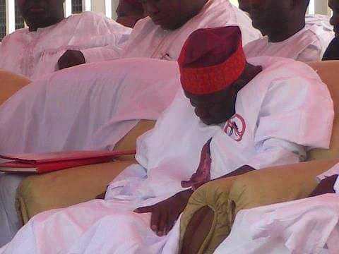 Pictured: Kano State Governor Sleeping In Public?