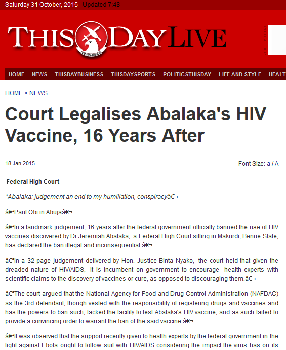 hiv vaccine articles