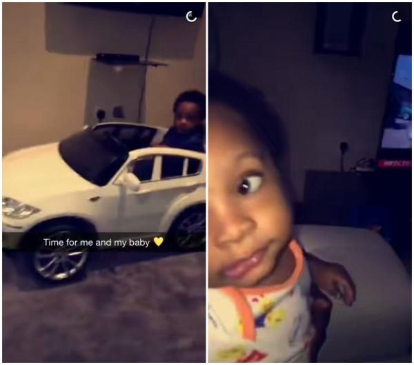 Big Boy!! Olamide Proudly Shows Off His Son In New Snapchat