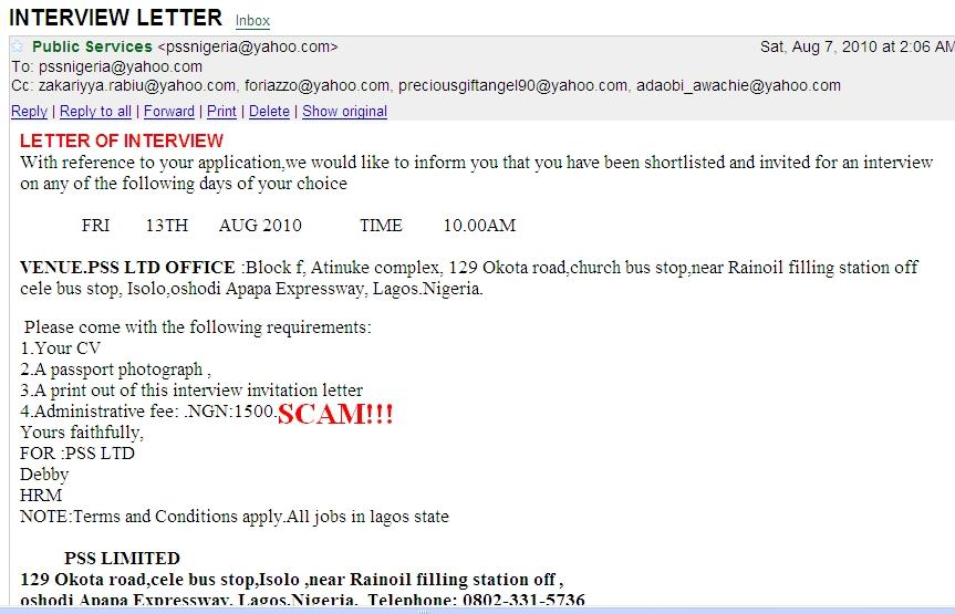 Test invitation letter jobsvacancies nigeria stopboris Image collections