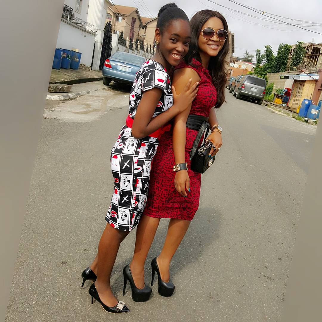 Image result for 10 photos of mercy aigbe and her daughter