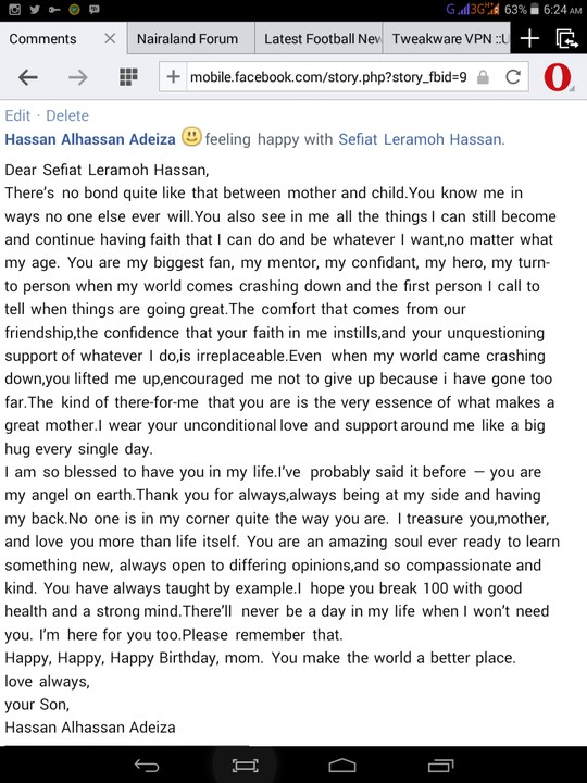 See The Birthday Message A Nairalander Posted On Facebook For His