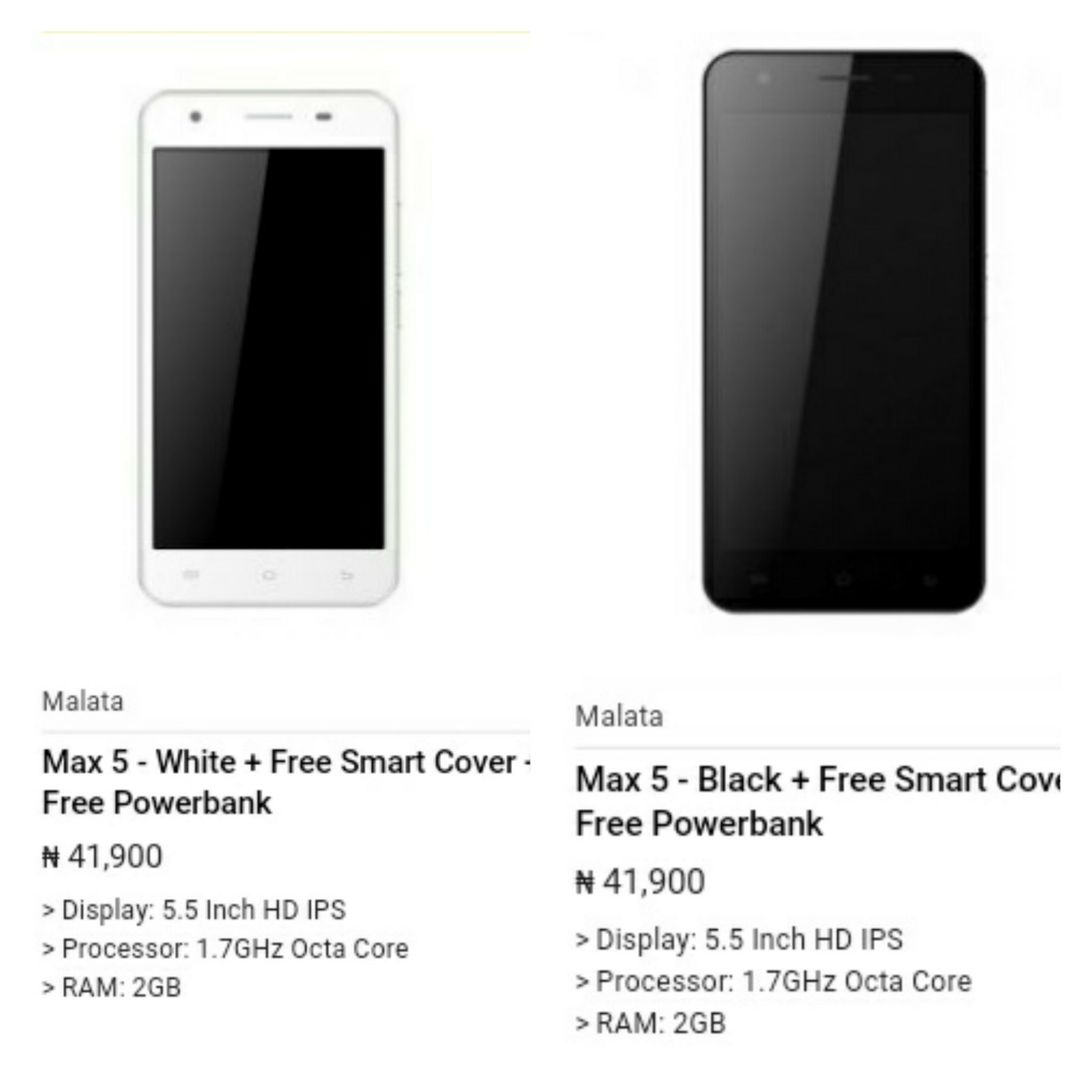 Max 5 By Malata Latest Android Device On Jumia Phones