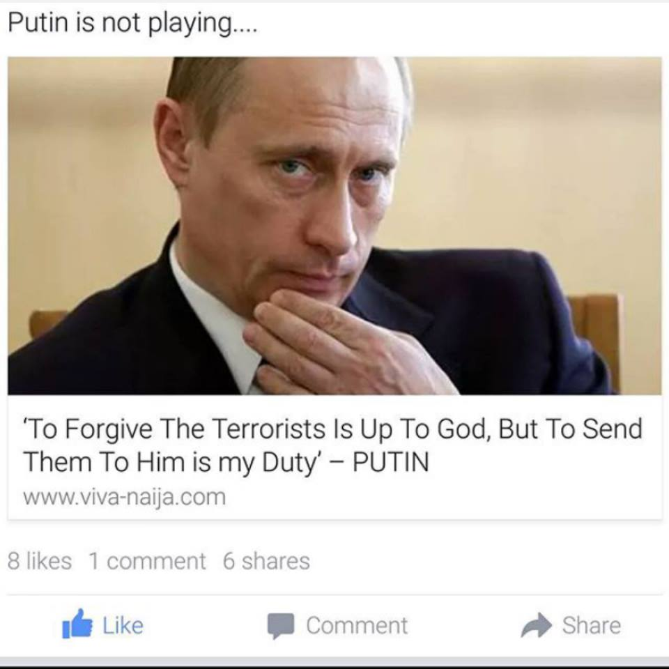Quote Of The Year By Vladimir Putin