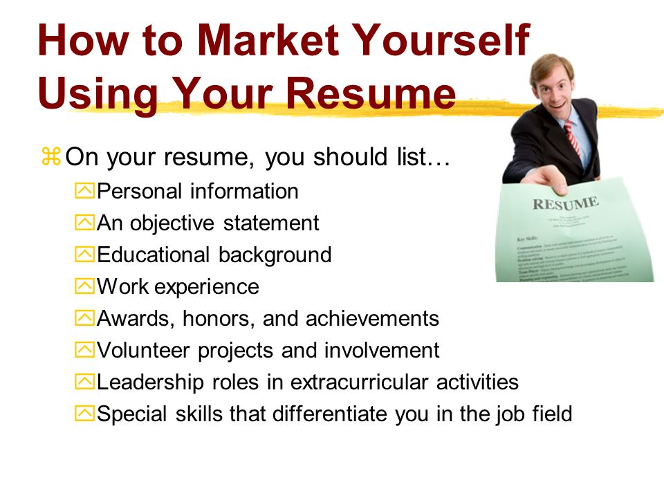how to market and sell yourself to employers with your cv