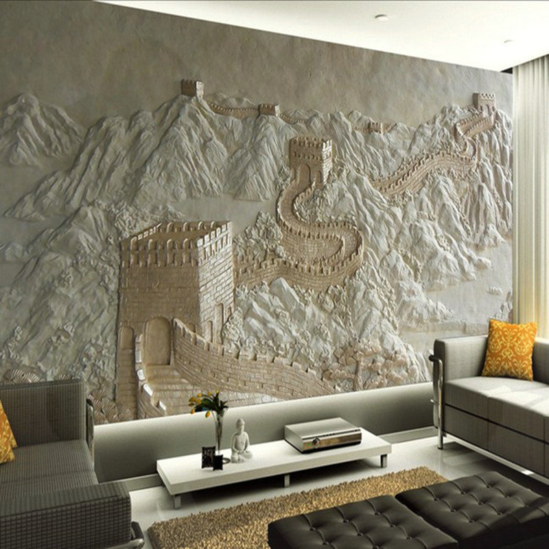 Upgrade your home with awesome 3d wall and floor for Chinese wallpaper mural