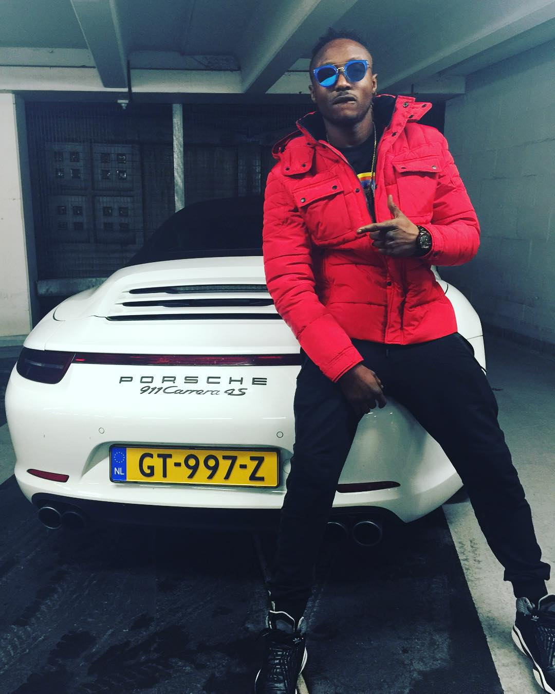 Photo: Terry G Shows Of His Newly Acquired Porsche Car