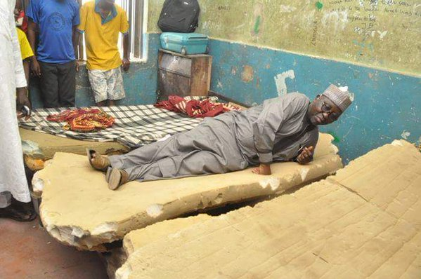 Gov Tanko Lying Down On A Bug Infested Mattress(Photo)