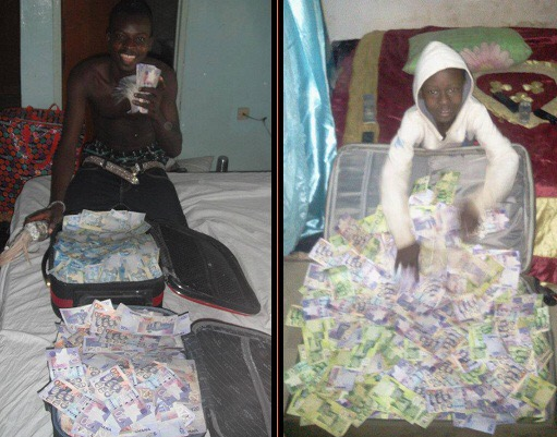 Viral Photos: Ogun State Based Native Doctor Advertises His Money