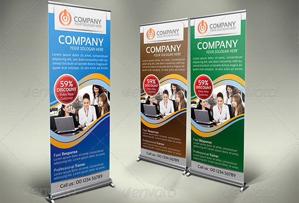 Exhibition Roller Stand : We make and install roll up banners business nigeria