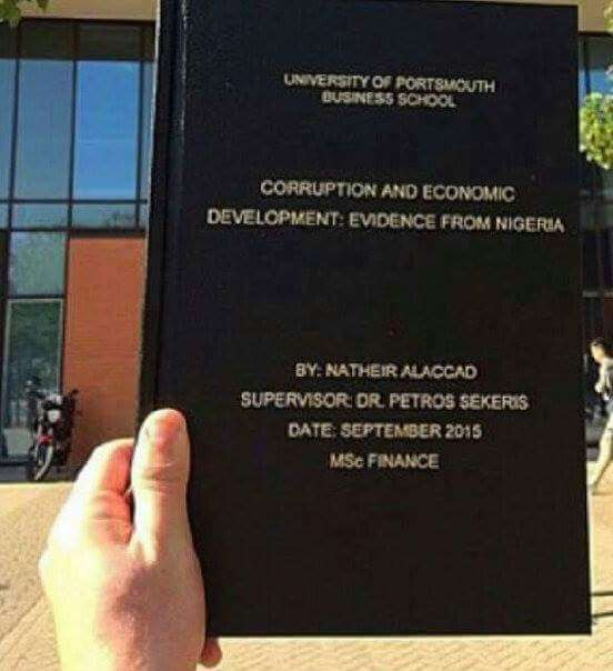 thesis on corruption in nigeria Terrorism in contemporary nigeria: a latent function of official corruption and contemporary terrorism in nigeria to.