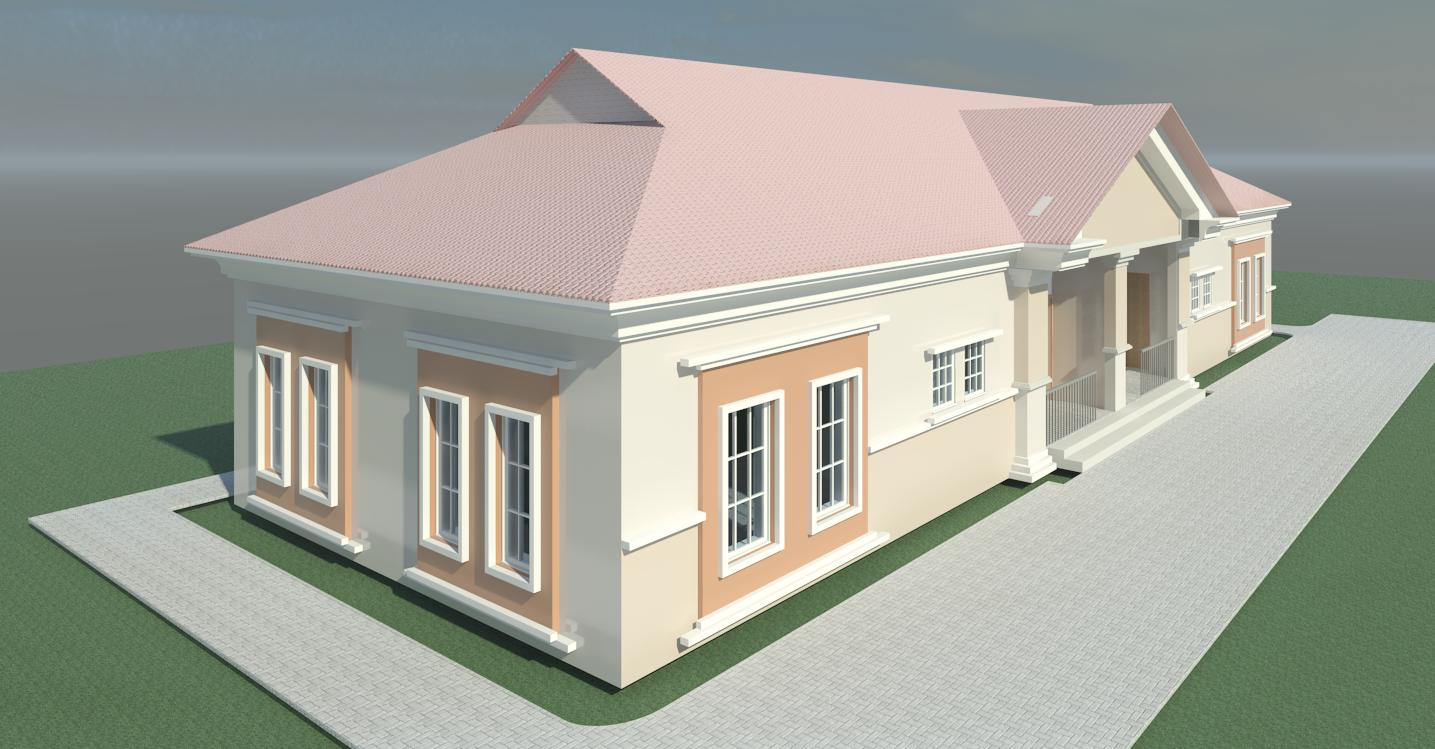 Construction of two unit semi detached two bedroom flat for 4 bedroom flat bungalow plan
