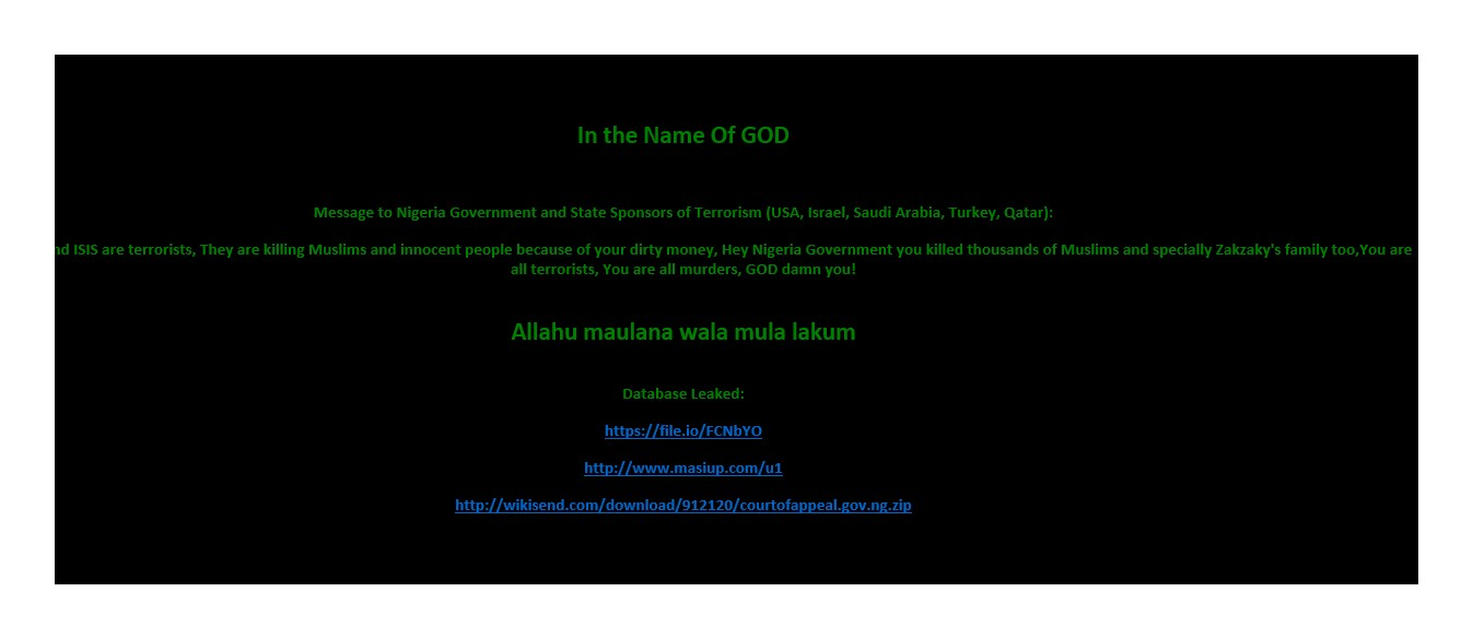 LASG website hacked over Army-Shi'ite clash | The Guardian ...