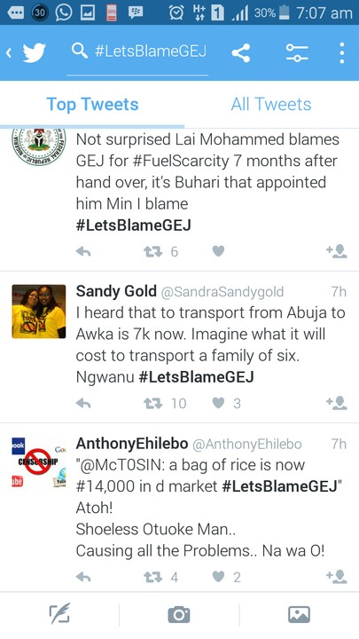 Lai Mohammed, Goodluck Jonathan, #LetsBlameGEJ: See How Nigerians Responded To Lai Mohammed Blame On GEJ