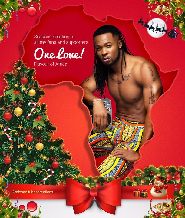 Flavour's Xmas Card Is SEXY…As Expected