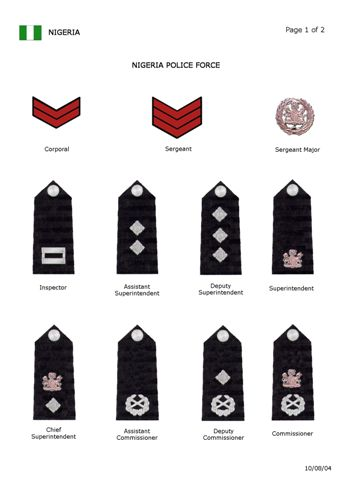 The Authority Structure Of The Nigerian Police Force
