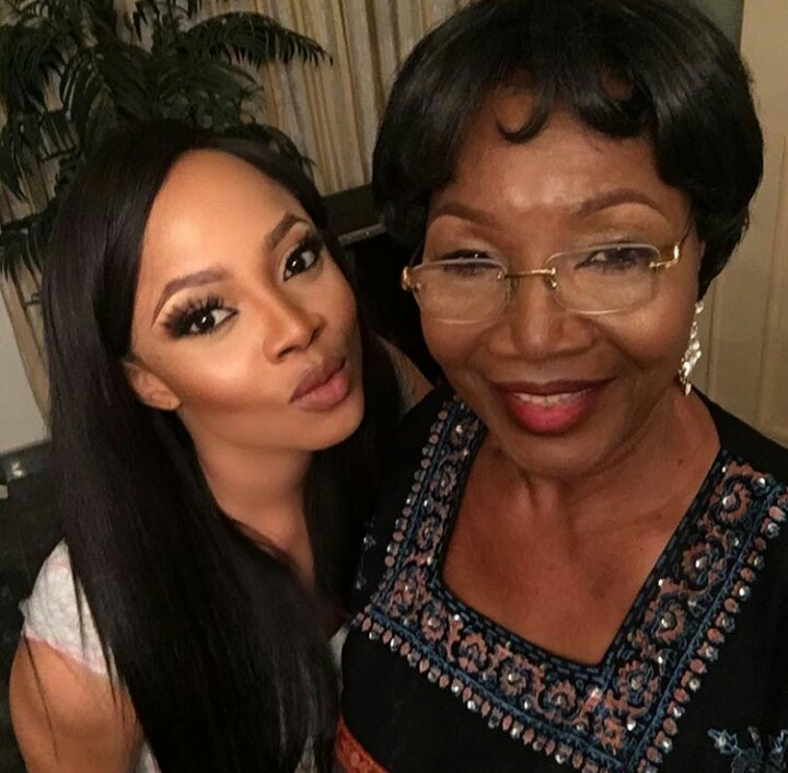 She Got It From Her Mama! Toke Makinwa Shares Beautiful Photo Her With Her Mum