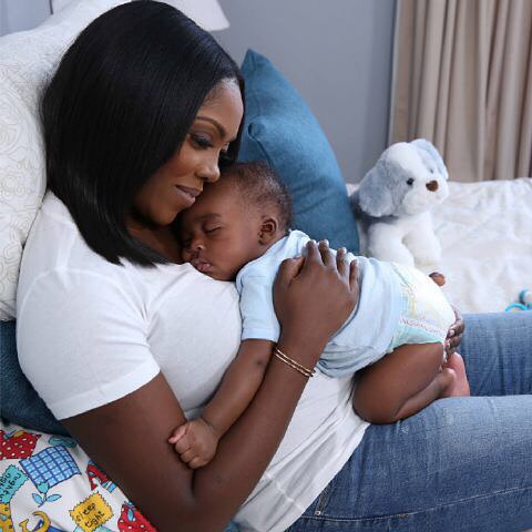 Tiwa Savage Shares a Photo Of Herself And Her Baby