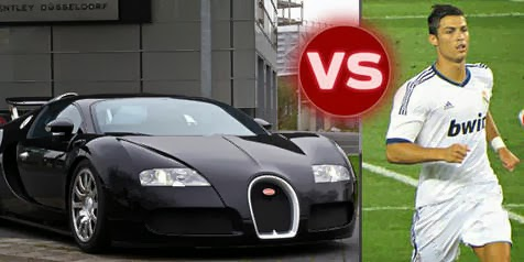 cristiano ronaldo has gone car crazy check out his most expensive bugatti veyron celebrities. Black Bedroom Furniture Sets. Home Design Ideas