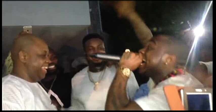 [Photos+Video] Davido Joined On Stage By His Dad In Gambia
