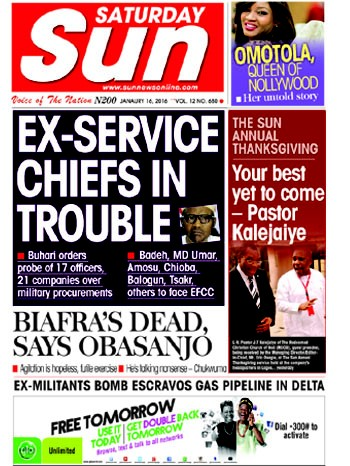 See The Different Headlines In Today's Sun Newspaper ...