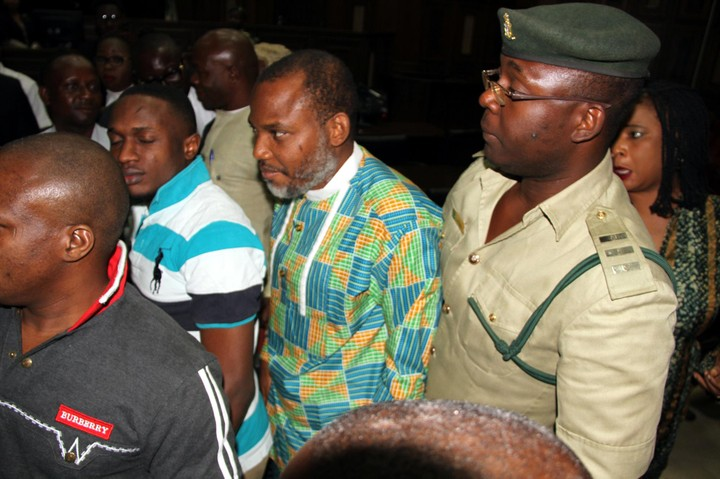 Photos: Radio Biafra Founder Nnamdi Kalu Appears In Court(Is He Putting On Weight?)