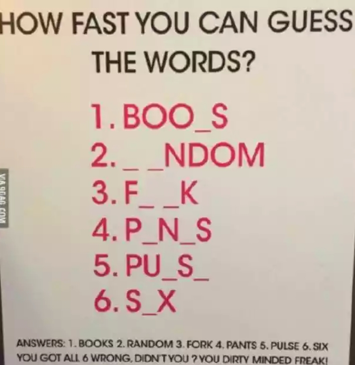 Brain Teaser That Will Show You How Dirty Your Mind Is ...