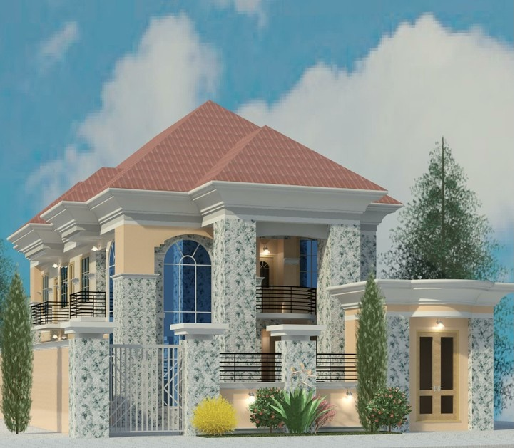 Building plans for your taste properties 13 nigeria for Modern duplex house plans in nigeria