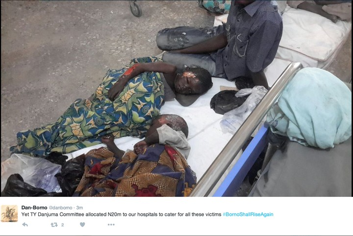 Aftermath Of The Boko Haram Terror In Borno Yesterday (Graphic Pictures)