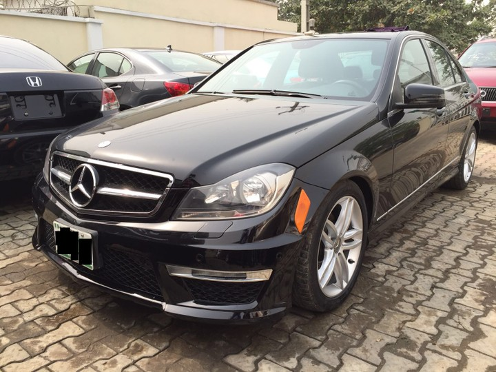 sold reg mercedes benz c300 4matic 2012 black on black autos nigeria. Black Bedroom Furniture Sets. Home Design Ideas