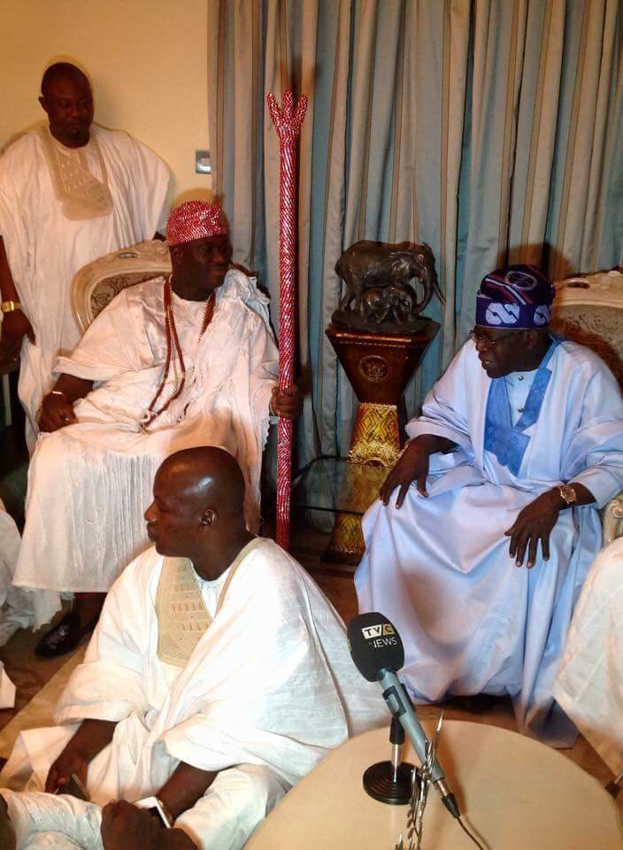 Photos: Ooni Of Ife Oba Ogunwusi Pays Courtesy Visit To Tinubu