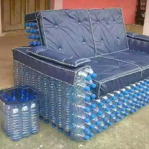 Innovative Nigeria Made Water Bottle Chair Side Stool