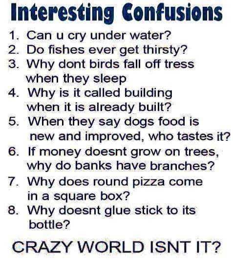 Interesting confusions