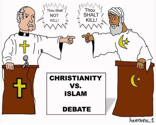 an introduction to the debate of christian and islamic religion Christianity and violence as with other forms of religious terrorism, christian terrorists have relied on interpretations of the tenets of faith - in this case, the bible why christianity is and islam isn't, regnery publishing.