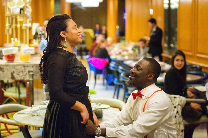 Nigerian Man Proposes To Girlfriend With Flashmob Disguises Himself