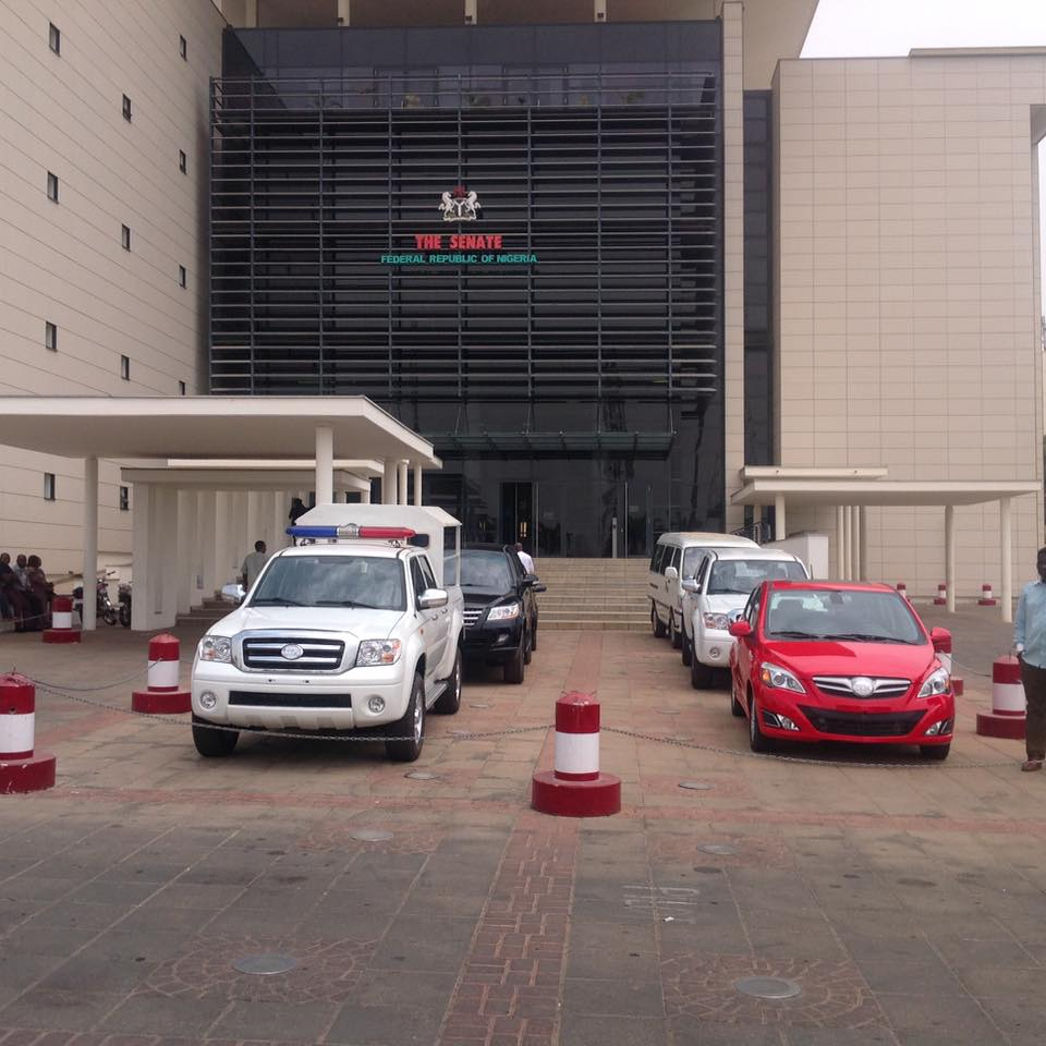 Innoson motors spotted at the national assembly complex for National motors used cars