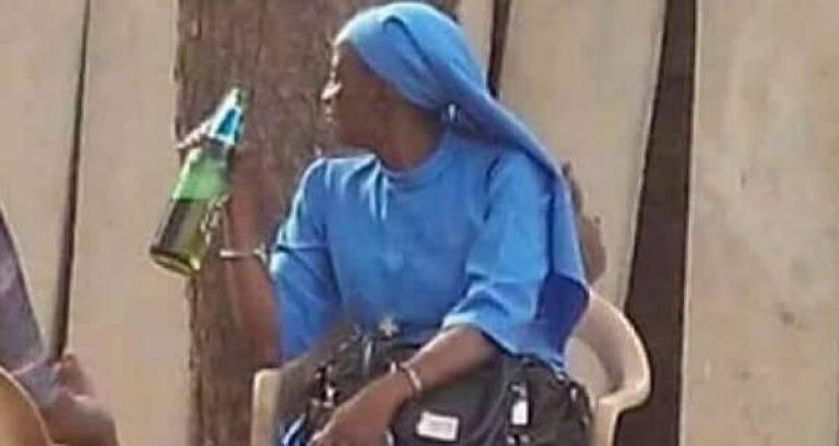Image result for reverend sister drinking beer