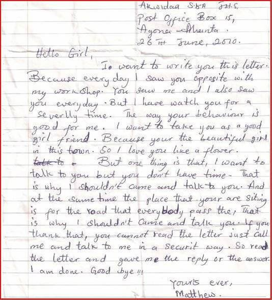 The Best Love Letter Ever from www.nairaland.com