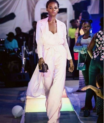 You Won't Believe This Is Olajumoke On The Runway (Photo)