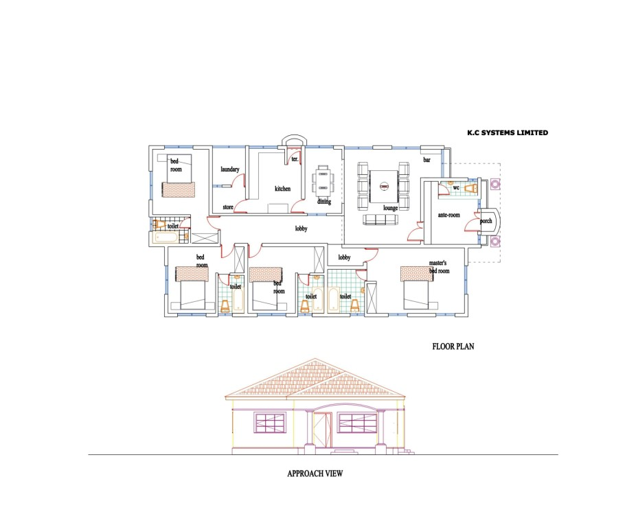 3 bedroom bungalow floor plans nigeria for House plans nigeria