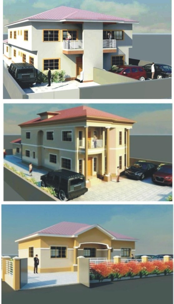 I need a good home plan properties nigeria for Revit architecture modern house design
